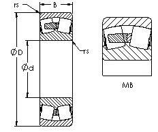 420 mm x 520 mm x 46 mm C AST 24034MB Spherical Roller Bearings