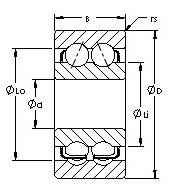 12 inch x 540 mm x 225 mm Mi AST 5200 Angular Contact Ball Bearings