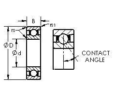 17 mm x 35 mm x 10 mm Outer Diameter (mm) AST 71828AC Angular Contact Ball Bearings