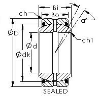 38 mm x 63 mm x 17 mm C AST GE280ES-2RS Plain Bearings
