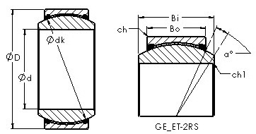 406,4 mm x 603,25 mm x 82,55 mm E AST GE35ET-2RS Plain Bearings