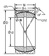 31.75 mm x 72 mm x 37,6 mm Bore Diameter (mm) AST GEH100HCS Plain Bearings