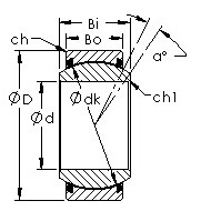 Bearing number AST GEZ44ET-2RS Plain Bearings