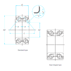 30 mm x 62 mm x 16 mm Da max. FAG 579102A Angular Contact Ball Bearings