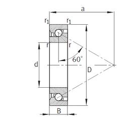 17 mm x 47 mm x 14 mm B FAG 7602040-TVP Thrust Ball Bearings