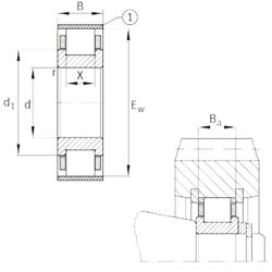 31,75 mm x 62 mm x 19,05 mm Bearing number FAG RN328-E-MPBX Cylindrical Roller Bearings