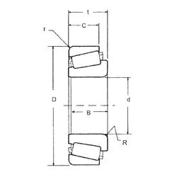 7 mm x 17 mm x 5 mm inner ring width: FBJ 33211 Tapered Roller Bearings