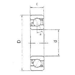 1,397 mm x 4,762 mm x 2,779 mm Outer Diameter (mm) FBJ 7318B Angular Contact Ball Bearings