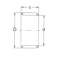 35 mm x 80 mm x 21 mm Sa(min) FBJ K50X55X27 Needle Roller Bearings