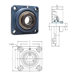 Outer Diameter (mm) FYH NANF211 Bearing Units