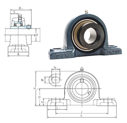 30 mm x 72 mm x 19 mm (Refer.)Mass(kg) FYH NAPK212-38 Bearing Units