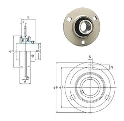 65 mm x 120 mm x 38,1 mm Cr FYH SBPF204 Bearing Units