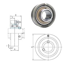 384,175 mm x 546,1 mm x 104,775 mm Width (mm) FYH UCC203 Bearing Units