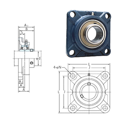Basic static load rating (C0) FYH UCF208-24 Bearing Units