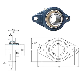 Width (mm) FYH UCFL306 Bearing Units