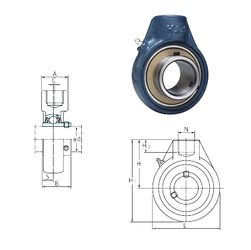 100 mm x 215 mm x 47 mm Width (mm) FYH UCHA203 Bearing Units