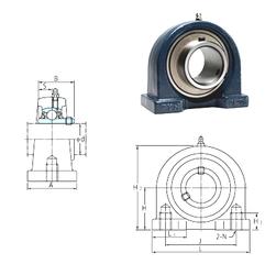 60 mm x 130 mm x 31 mm e FYH UCPA209-28 Bearing Units