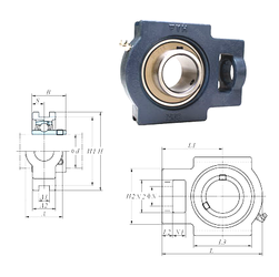 (Grease) Lubrication Speed FYH UCT211-32E Bearing Units