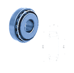 50 mm x 80 mm x 16 mm a Fersa 32008XF Tapered Roller Bearings