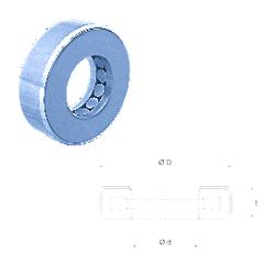 12 mm x 28 mm x 8 mm Category Fersa T119 Thrust Roller Bearings