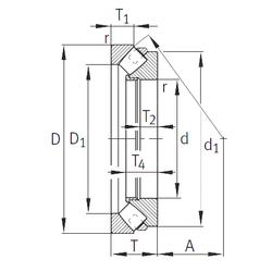 10 mm x 22 mm x 13 mm da min. INA 29230-E1-MB Thrust Roller Bearings