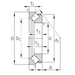 25,4 mm x 57,15 mm x 15,875 mm d INA 29434-E1 Thrust Roller Bearings