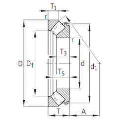 30 mm x 72 mm x 19 mm Basic dynamic load rating (C) INA 29468-E1 Thrust Roller Bearings