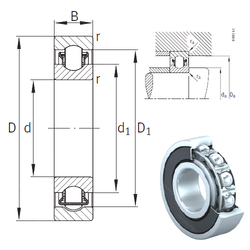 Outer Diameter (mm) INA BXRE211-2HRS Needle Roller Bearings