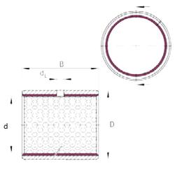 105 mm x 160 mm x 26 mm d INA EGB4040-E50 Plain Bearings