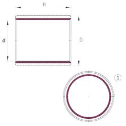 30 mm x 72 mm x 19 mm d1 INA EGB7070-E40 Plain Bearings