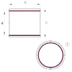 h INA EGB9050-E40 Plain Bearings