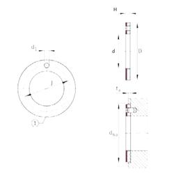 Basic dynamic load rating (C) INA EGW26-E40-B Plain Bearings