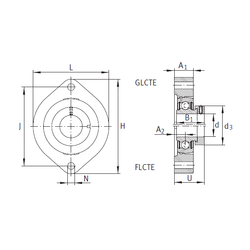 ni INA FLCTE17 Bearing Units