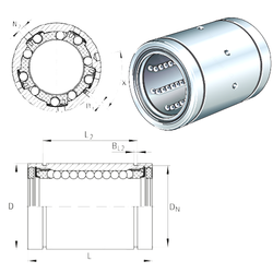 Size (mm) INA KBS12-PP-AS Linear Bearings