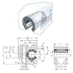 75 mm x 130 mm x 31 mm db min. INA KGSC50-PP-AS Linear Bearings
