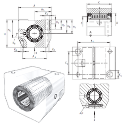 Weight INA KGSNS50-PP-AS Linear Bearings