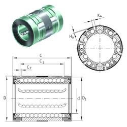Bore Diameter (mm) INA KN20-B Linear Bearings