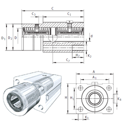 6 mm x 19 mm x 6 mm Bearing number INA KTFS30-PP-AS Linear Bearings