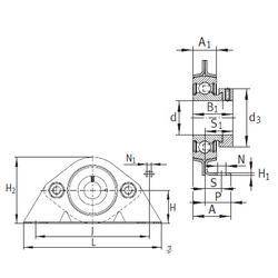 70 mm x 125 mm x 31 mm Outer Diameter (mm) INA PBS15 Bearing Units