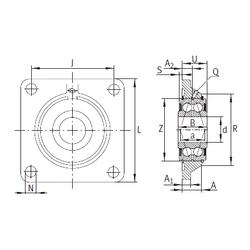 101,6 mm x 215 mm x 108 mm Bearing number INA PCCJ25 Bearing Units