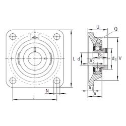 Size (mm) INA PCJ20-N Bearing Units