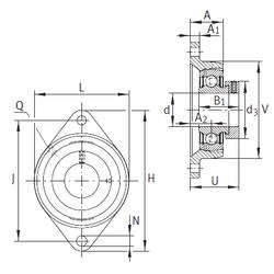 35 mm x 80 mm x 34,9 mm Maximum Capacity / Filling Slot INA PCJT20-N Bearing Units