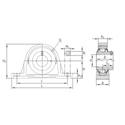 50 mm x 90 mm x 23 mm C INA RASEY20-N Bearing Units