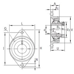 140 mm x 250 mm x 42 mm Size (mm) INA RCJT30-N Bearing Units