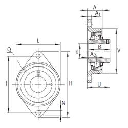 60,000 mm x 130,000 mm x 31,000 mm Brand INA RCJTY70 Bearing Units
