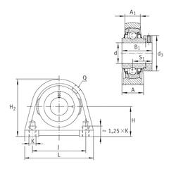 65 mm x 150 mm x 51 mm r5 min. INA RSHE50-N Bearing Units