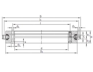 45,339 mm x 90 mm x 30,175 mm B INA YRTS325 Complex Bearings