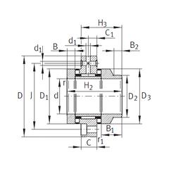 Size (mm) INA ZARF1560-L-TV Complex Bearings
