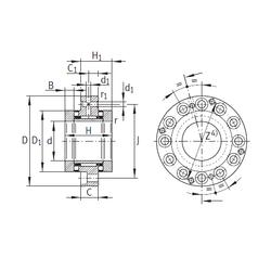 50 mm x 110 mm x 27 mm Brand INA ZARF70160-TV Complex Bearings