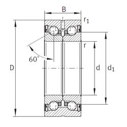 Bearing number INA ZKLN1545-2Z Thrust Ball Bearings